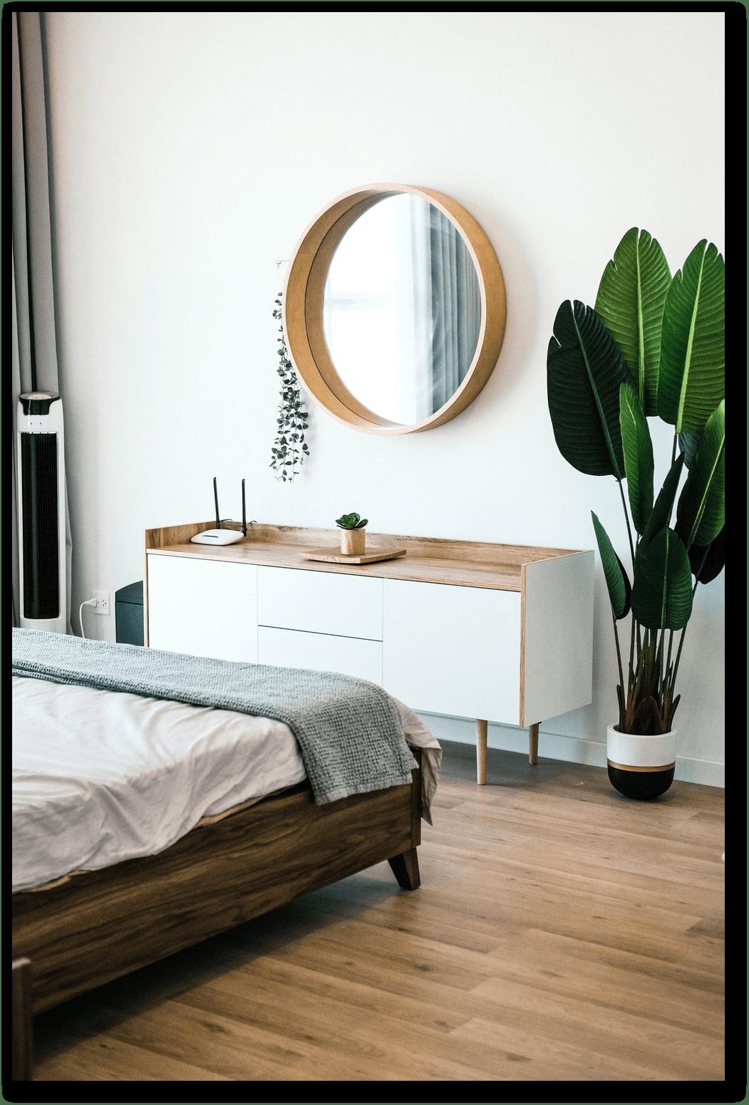 minimlistic bedroom design