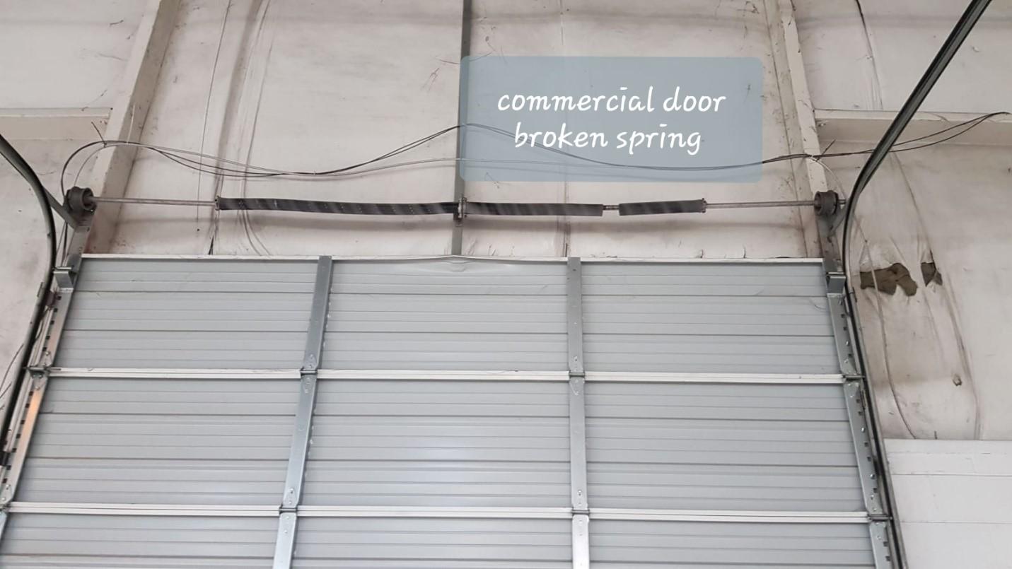 Commercial garage door repaired in Nashville