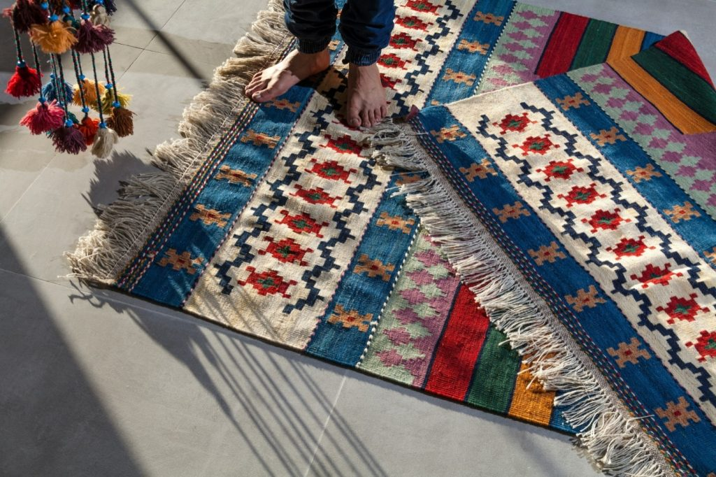 Two clean rugs that will last long.