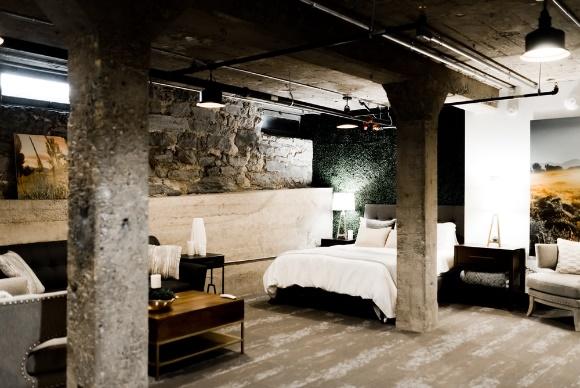Bedroom in a basement