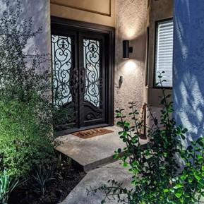 double iron front door