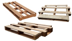 Different types of wooden pallets