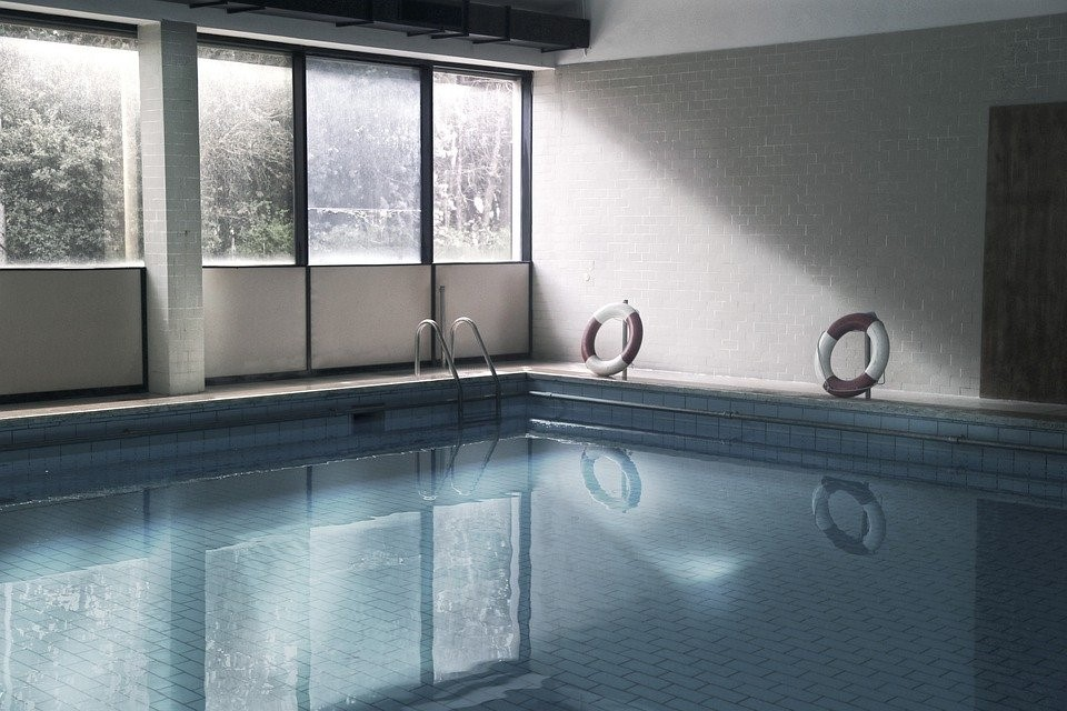 An indoor pool in VA