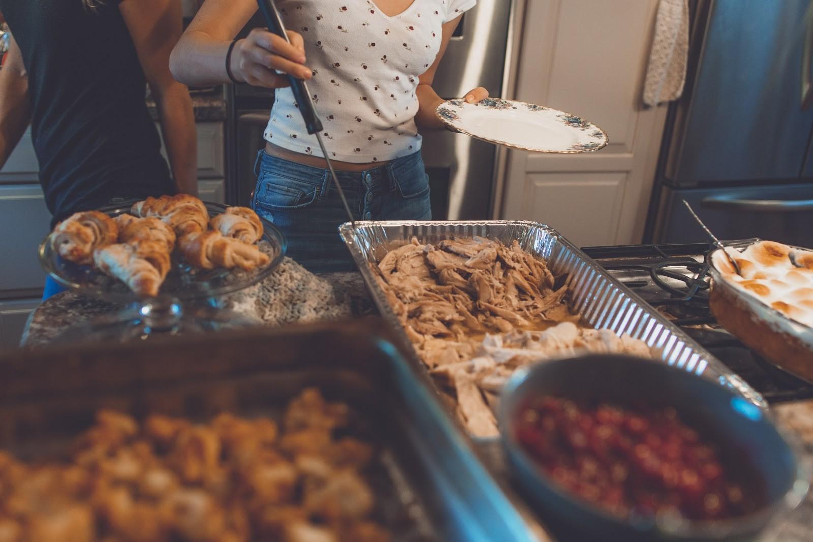 people having food