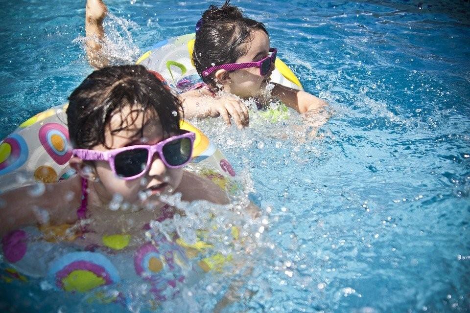 Kids enjoying a pool party
