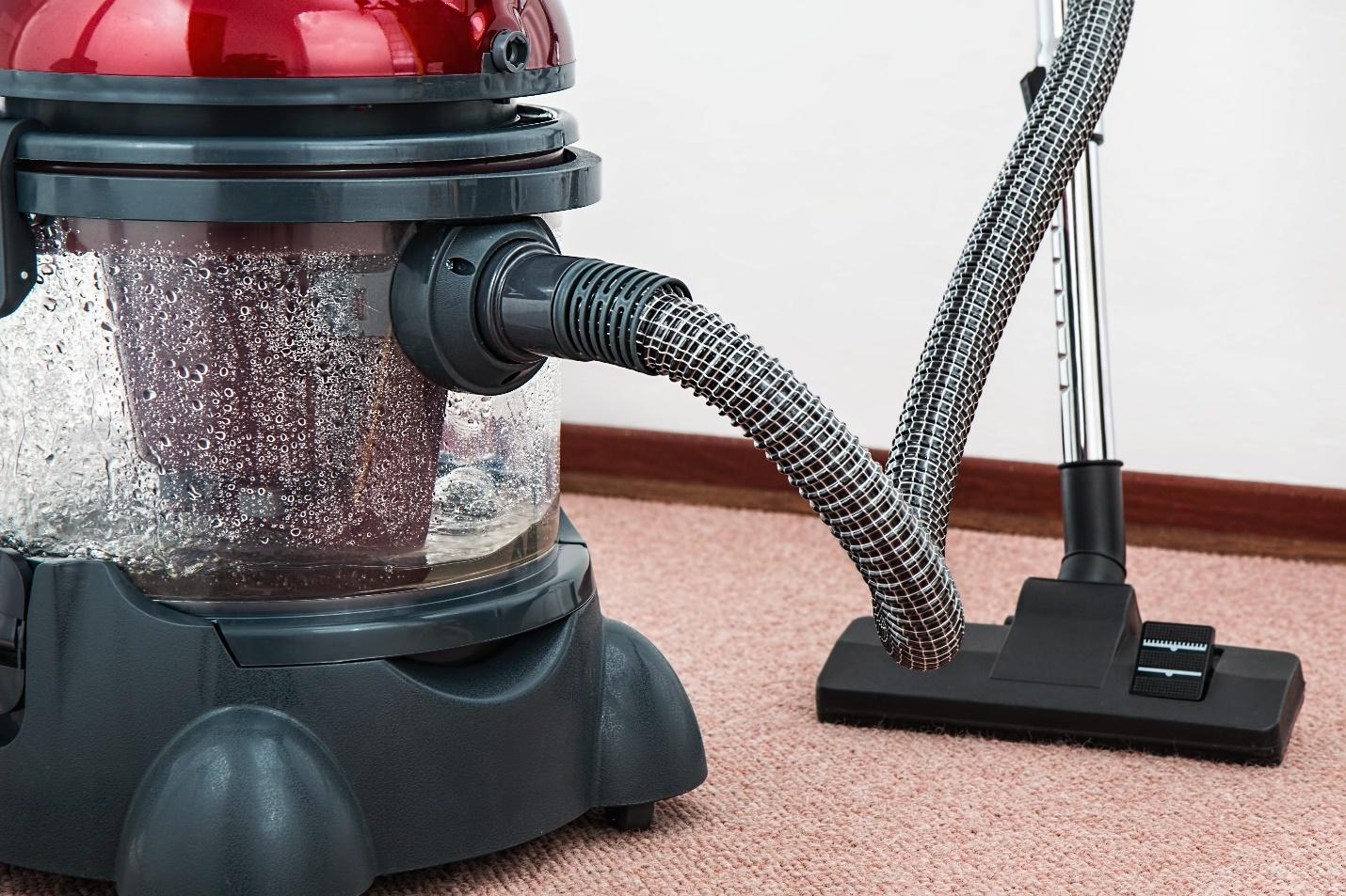 A-vacuum-cleaner-on-a-carpet