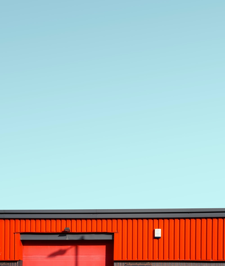 a commercial building with a flat roof