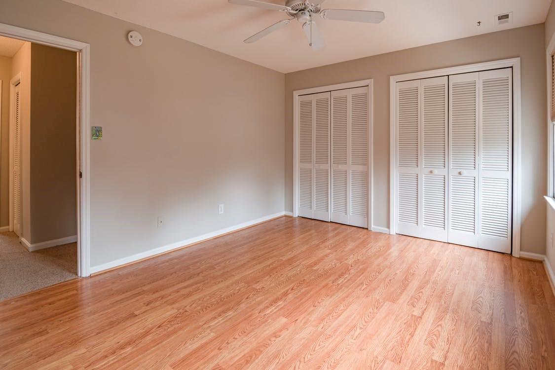 Newly installed hardwood floor